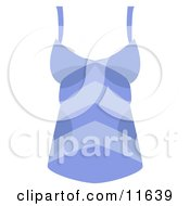 Womans Blue Striped Tank Top Shirt Clipart Picture