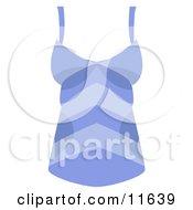 Womans Blue Striped Tank Top Shirt