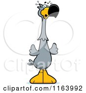 Cartoon Of A Scared Dodo Bird Mascot Royalty Free Vector Clipart by Cory Thoman