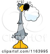 Cartoon Of A Dreaming Dodo Bird Mascot Royalty Free Vector Clipart by Cory Thoman