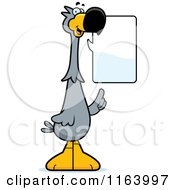 Cartoon Of A Talking Dodo Bird Mascot Royalty Free Vector Clipart by Cory Thoman