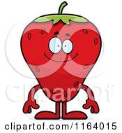 Happy Strawberry Mascot