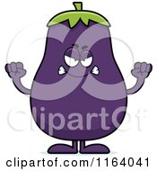 Cartoon Of A Mad Purple Eggplant Mascot Royalty Free Vector Clipart by Cory Thoman