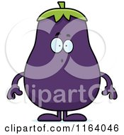 Cartoon Of A Surprised Purple Eggplant Mascot Royalty Free Vector Clipart by Cory Thoman