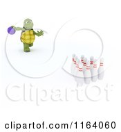 Clipart Of A 3d Bowling Tortoise Royalty Free CGI Illustration by KJ Pargeter