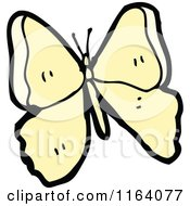 Cartoon Of A Yellow Butterfly Royalty Free Vector Illustration