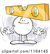Cartoon Of A Level Headed Moodie Character Royalty Free Vector Clipart