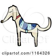 Cartoon Of A Greyhound Dog Royalty Free Vector Illustration