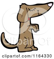 Cartoon Of A Begging Dog Royalty Free Vector Illustration