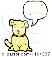 Cartoon Of A Talking Dog Royalty Free Vector Illustration by lineartestpilot