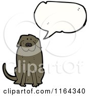 Cartoon Of A Talking Dog Royalty Free Vector Illustration