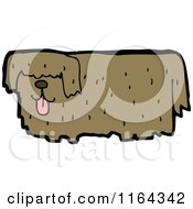 Cartoon Of A Dog Royalty Free Vector Illustration by lineartestpilot