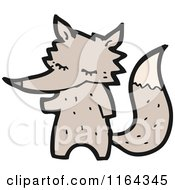 Cartoon Of A Wolf Royalty Free Vector Illustration by lineartestpilot