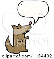 Cartoon Of A Talking Dog Or Wolf Royalty Free Vector Illustration