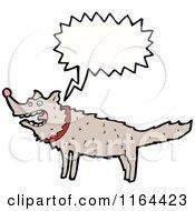 Cartoon Of A Talking Wolf Royalty Free Vector Illustration