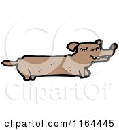 Cartoon Of A Dachshund Dog Royalty Free Vector Illustration