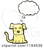 Cartoon Of A Thinking Dog Royalty Free Vector Illustration