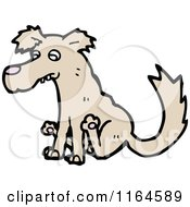 Cartoon Of A Dog Scooting His Bottom Royalty Free Vector Illustration
