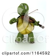 3d Musician Tortoise Playing A Violin