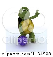 Clipart Of A 3d Bowling Tortoise With A Ball Royalty Free CGI Illustration by KJ Pargeter