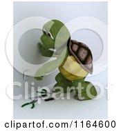3d Tortoise Electrician Worker Working On A Socket 2