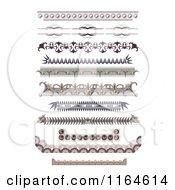 Clipart Of Ornate Vintage Certificate Border Designs Royalty Free Vector Illustration