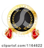 Clipart Of A Red Gold And Black Best Or Winner Tag Royalty Free Vector Illustration