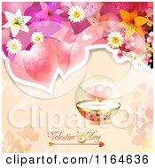 Clipart Of A Valentines Day Background With Roses Hearts And Text 8 Royalty Free Vector Illustration