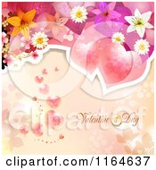 Clipart Of A Valentines Day Background With Roses Hearts And Text 7 Royalty Free Vector Illustration