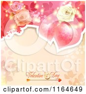 Clipart Of A Valentines Day Background With Roses Hearts And Text 4 Royalty Free Vector Illustration
