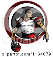 Strong Football Player Inside A Circle