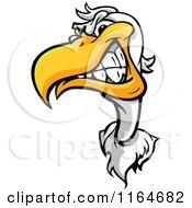Cartoon Of An Aggressive Seagull Mascot Royalty Free Vector Clipart