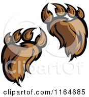 Cartoon Of Furry Bear Paws Royalty Free Vector Clipart by Chromaco