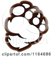 Bear Paw Outlined In Brown