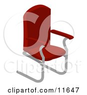 Red Office Chair Clipart Illustration