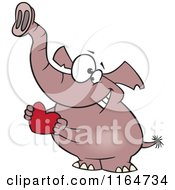 Sweet Elephant Holding A Red Valentine Heart