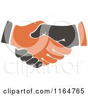 Poster, Art Print Of Black And Orange Handshake