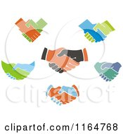 Clipart Of Handshakes 2 Royalty Free Vector Illustration by Vector Tradition SM