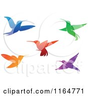 Clipart Of Colorful Hummingbirds 2 Royalty Free Vector Illustration by Vector Tradition SM
