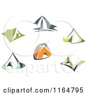 Clipart Of Camping Tents Royalty Free Vector Illustration