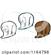 Clipart Of Brown And Polar Bears 2 Royalty Free Vector Illustration by Vector Tradition SM