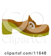 Brown Clog Shoe Clipart Picture