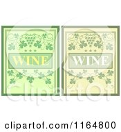Clipart Of Green Wine Menu Covers Royalty Free Vector Illustration