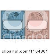 Clipart Of Striped Wine Menu Covers Royalty Free Vector Illustration