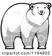 Clipart Of A Polar Bear 6 Royalty Free Vector Illustration by Vector Tradition SM