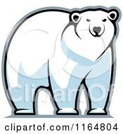 Clipart Of A Polar Bear Royalty Free Vector Illustration