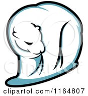 Clipart Of A Polar Bear 2 Royalty Free Vector Illustration