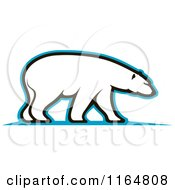 Clipart Of A Polar Bear 4 Royalty Free Vector Illustration