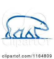 Clipart Of A Polar Bear 3 Royalty Free Vector Illustration