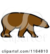 Clipart Of A Brown Bear 3 Royalty Free Vector Illustration